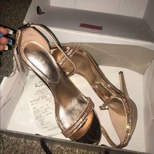 Rose Gold Aldo Heels